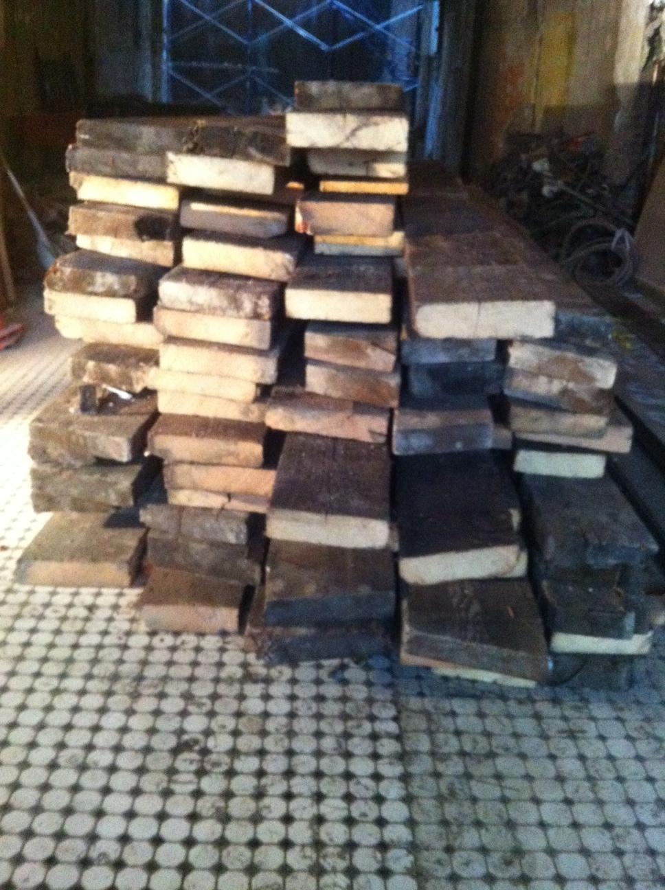 reclaimed wood slab