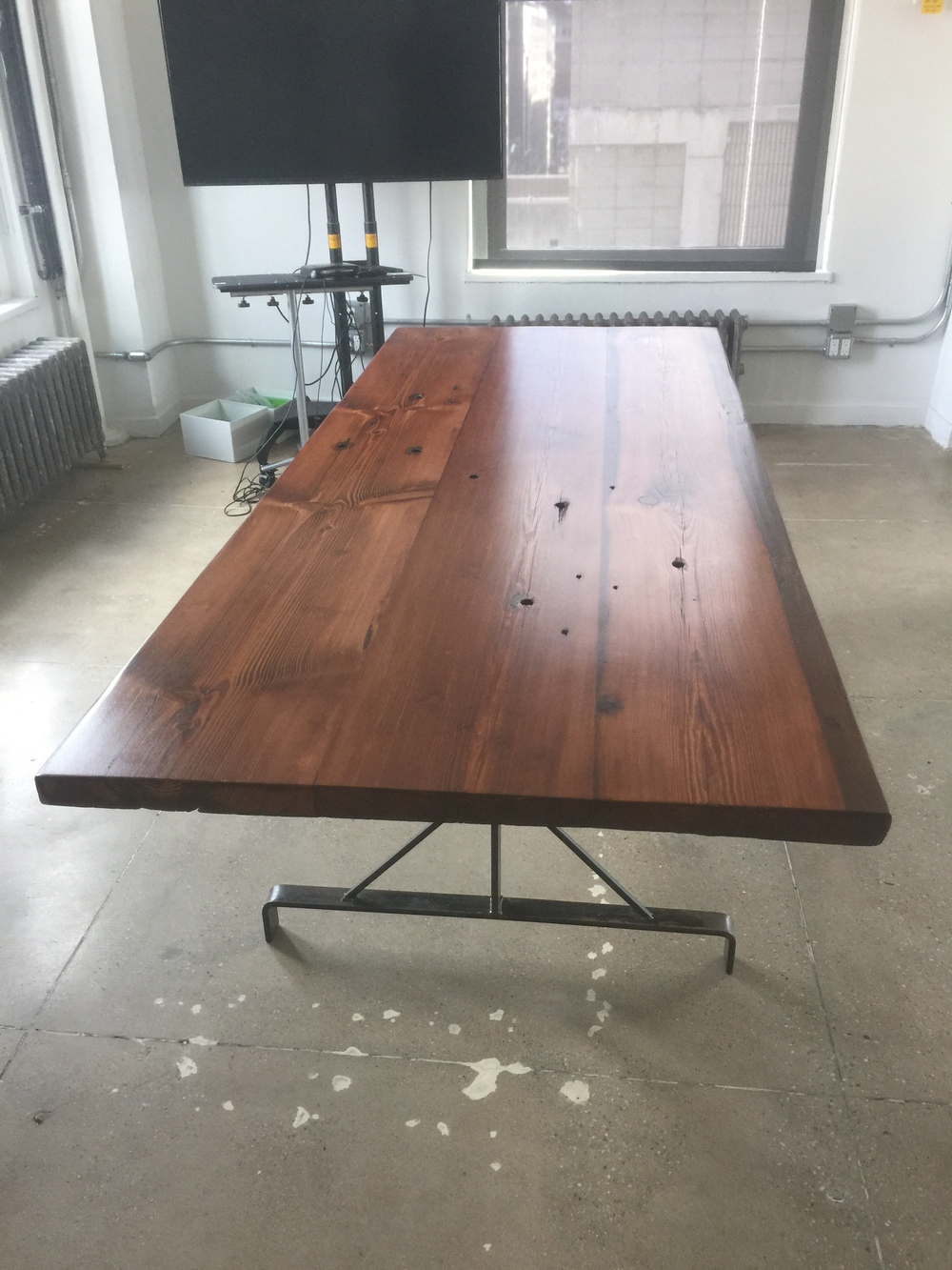 Stained Southern Yellow Pine Table