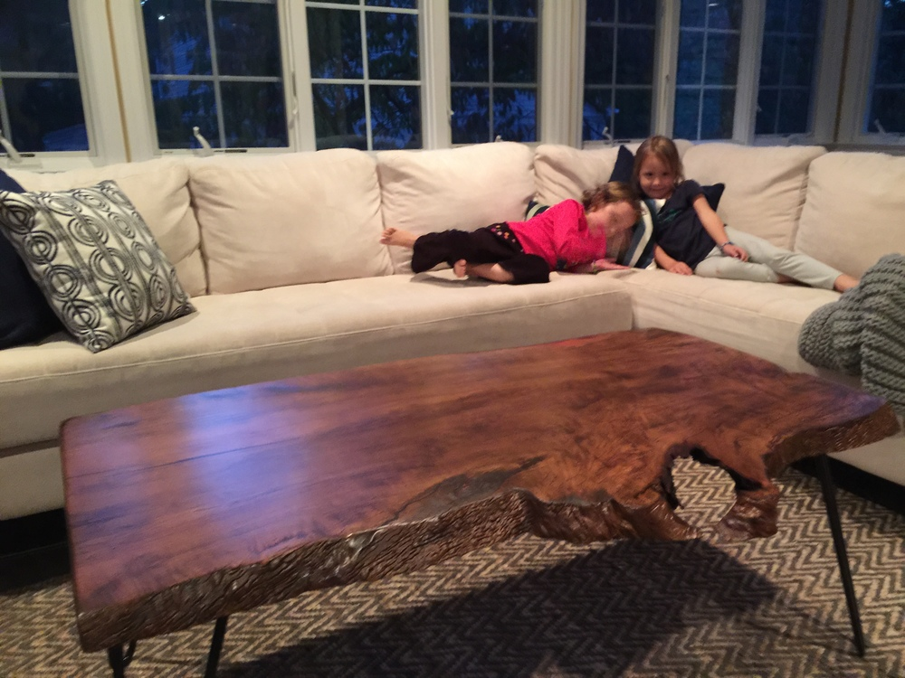Stained Sycamore Coffee Table