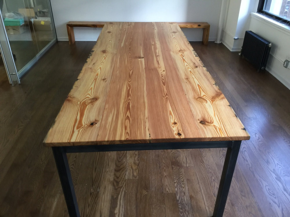 10' Southern Yellow Pine Conference Table