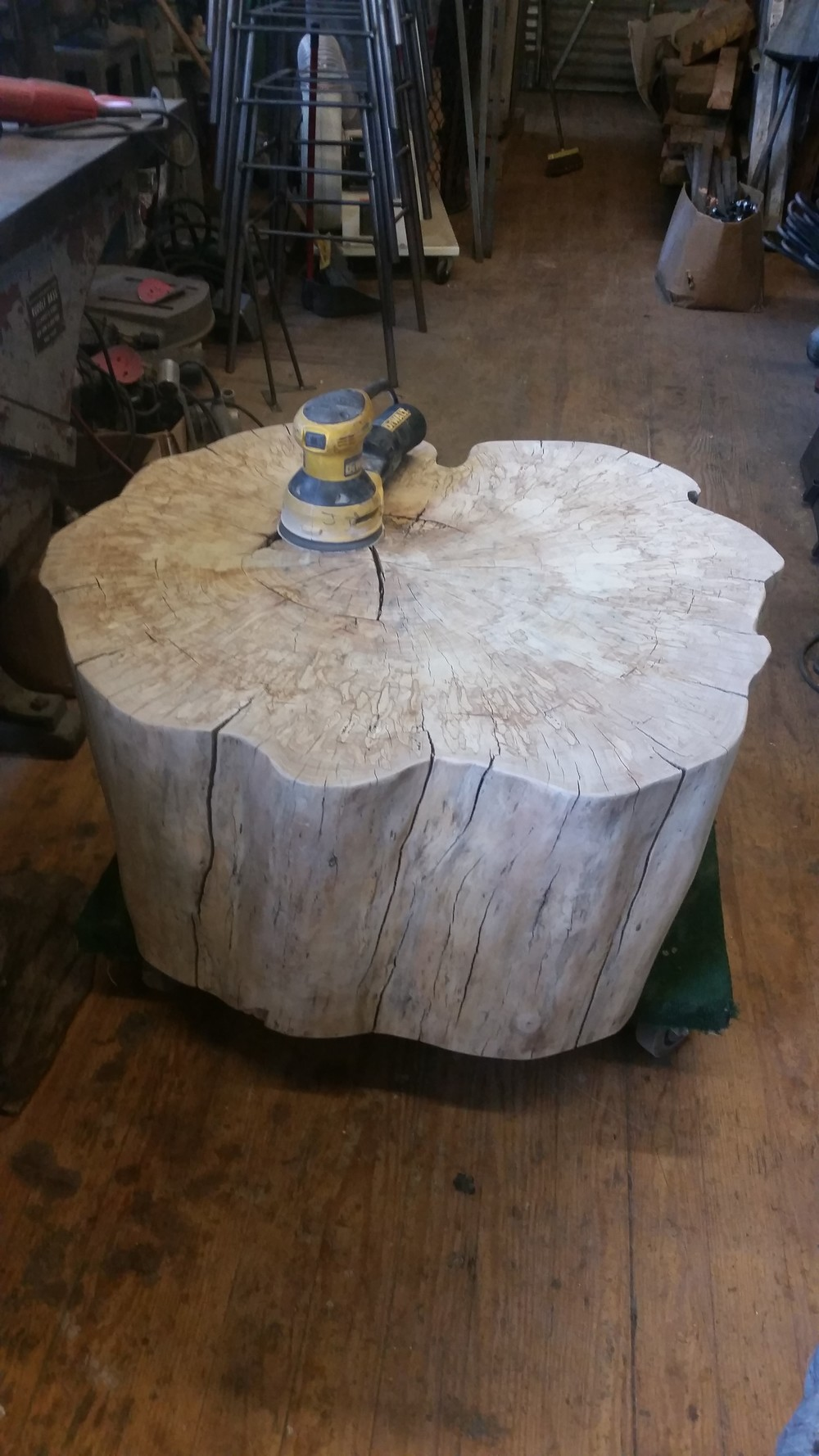 Unfinished Maple Stump Table.jpg