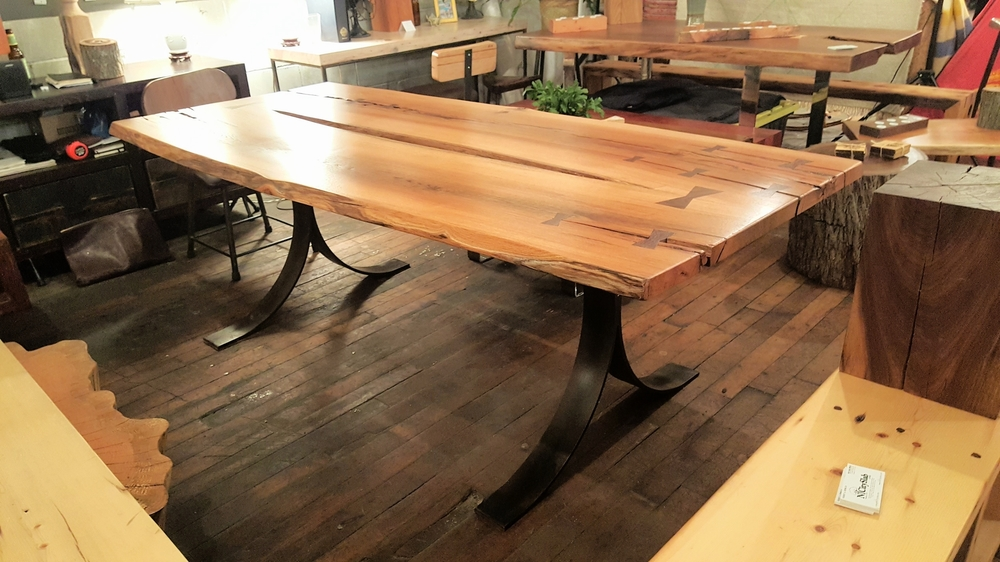 Super Storm Sandy Red Oak Table