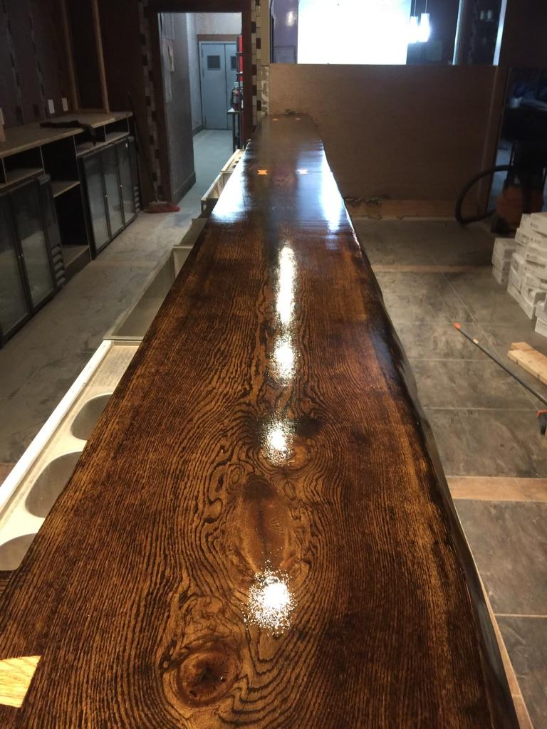 Custom Oak Bar