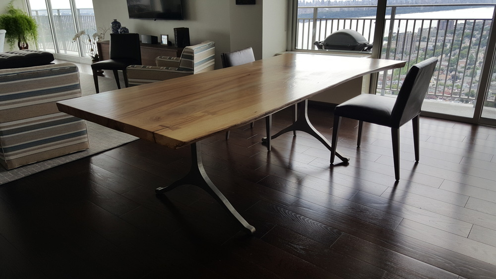 Live Edge Elm Dining Table