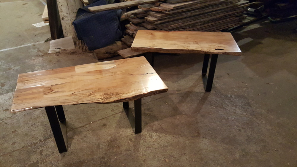 Twin Live Edge Benches