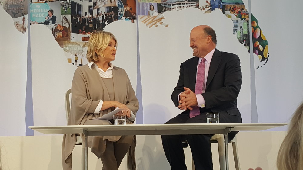 Martha Stewart and Jim Cramer