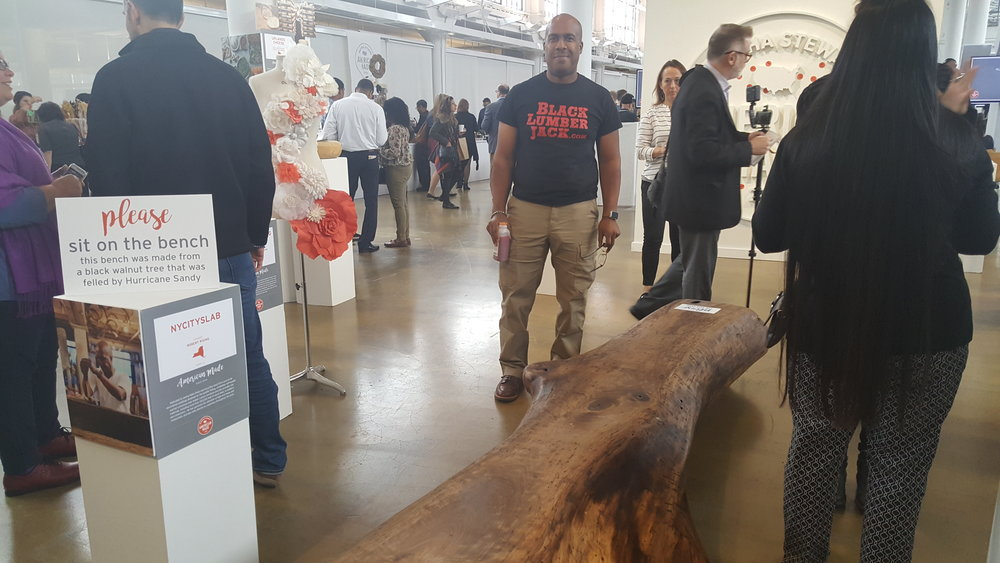 Blacklumberjack and Black Walnut Bench