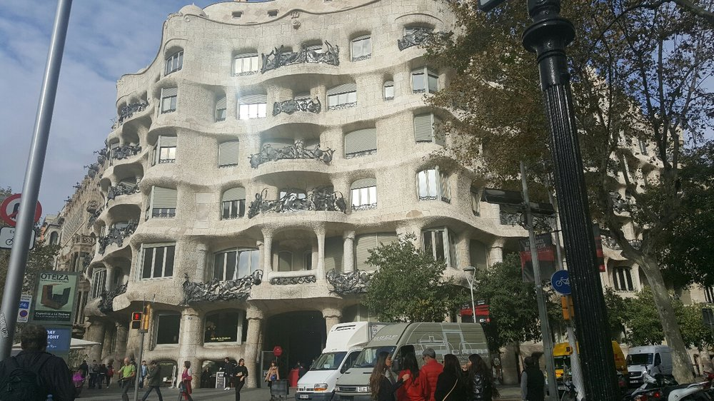 La Pedrera, JT's favorite building in Barcelona.
