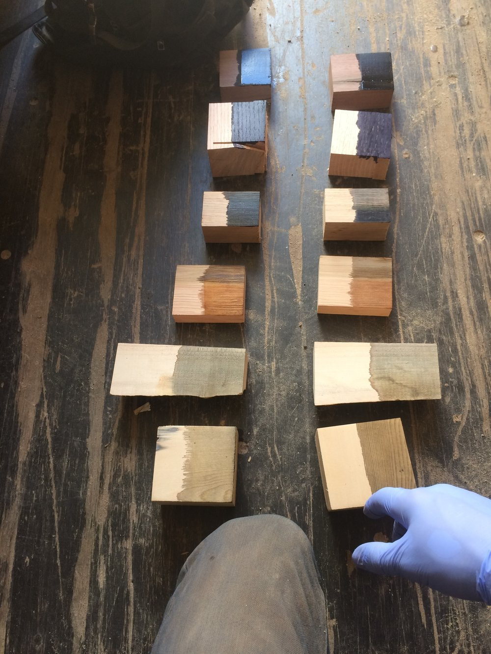 Testing on walnut, red oak, white oak, yellow pine, maple, white pine - take your pick!