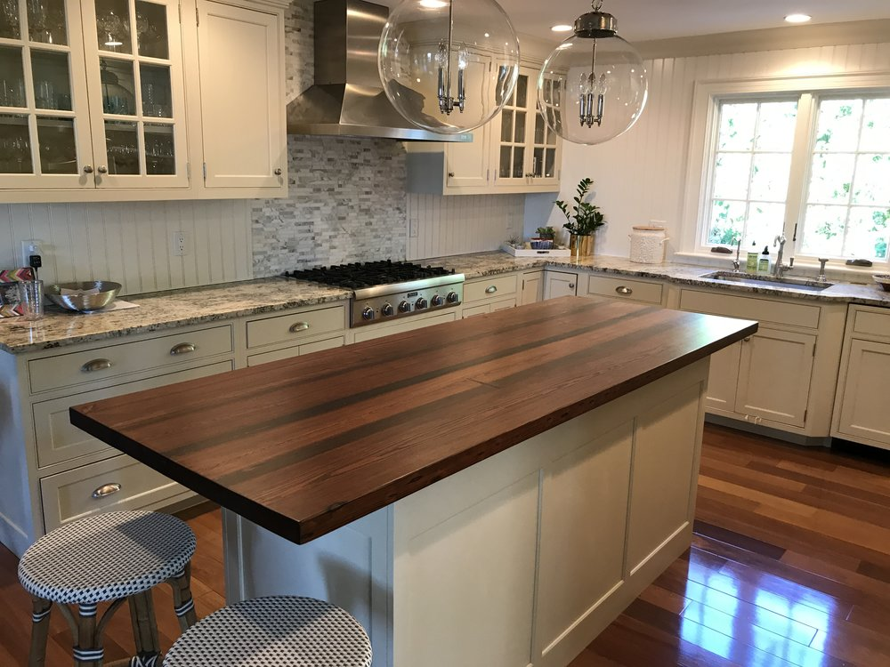 Yellow Pine Counter Top In Rye