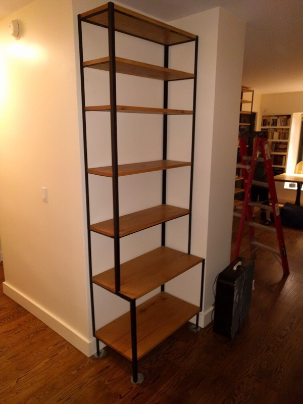 Oak and Metal Shelving Unit - Part 2
