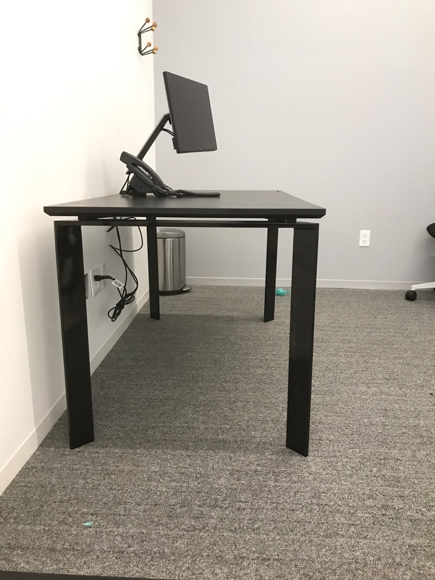 Steel and Black Laminate Desk