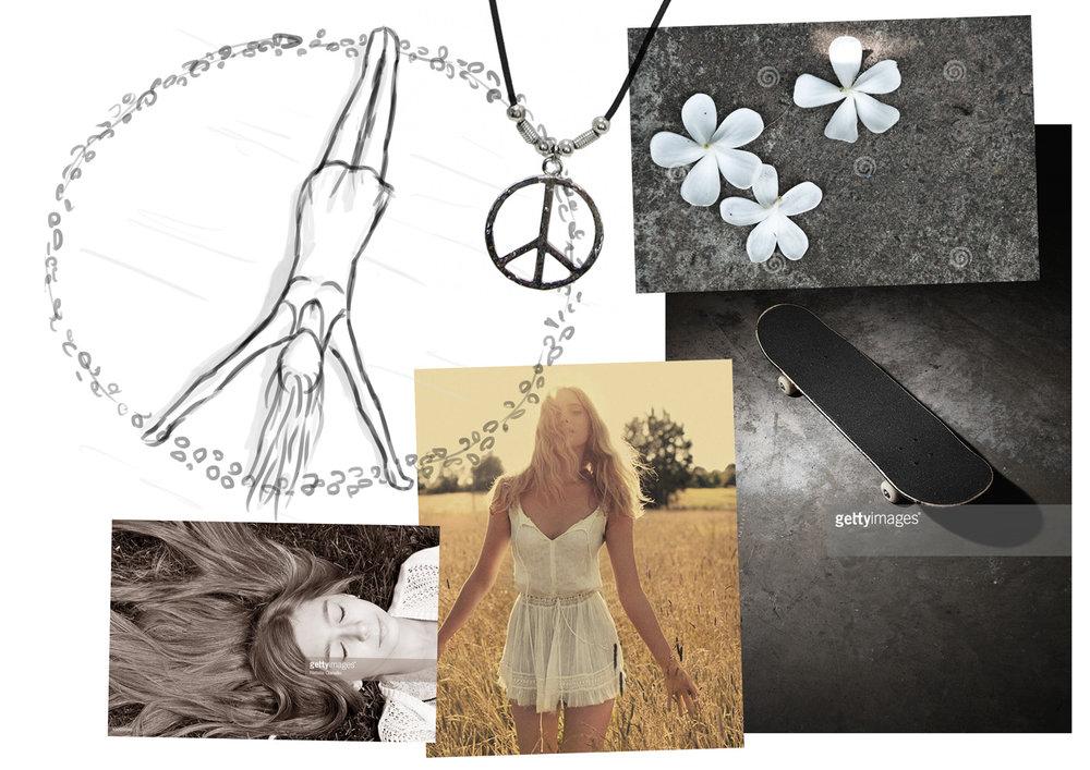 Concept moodboard: Hippie