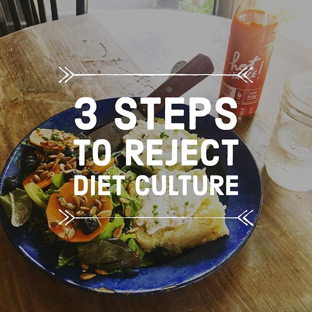 Happy Thursday!!! 😊 #tbt to the time when diet culture went unchecked & unquestioned! 😉💪🏻 👊🏼 Check out #ontheblog today 👉🏻3 steps you can take to reject diet culture & embrace intuitive eating! #linkinbio  #intuitiveeating #haes #bopo #bodypositive #bodypositivity #antidietdietitian #blogger #newblogpost