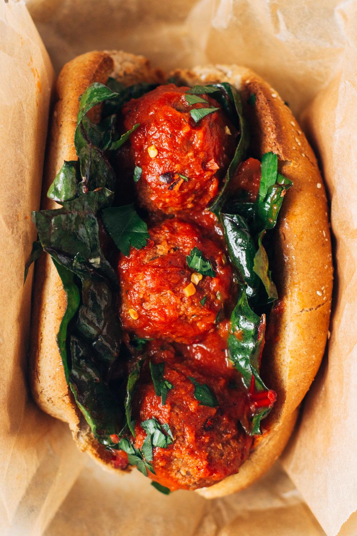 White Bean and Mushroom 'Meatballs' | Easy Vegetarian Recipes