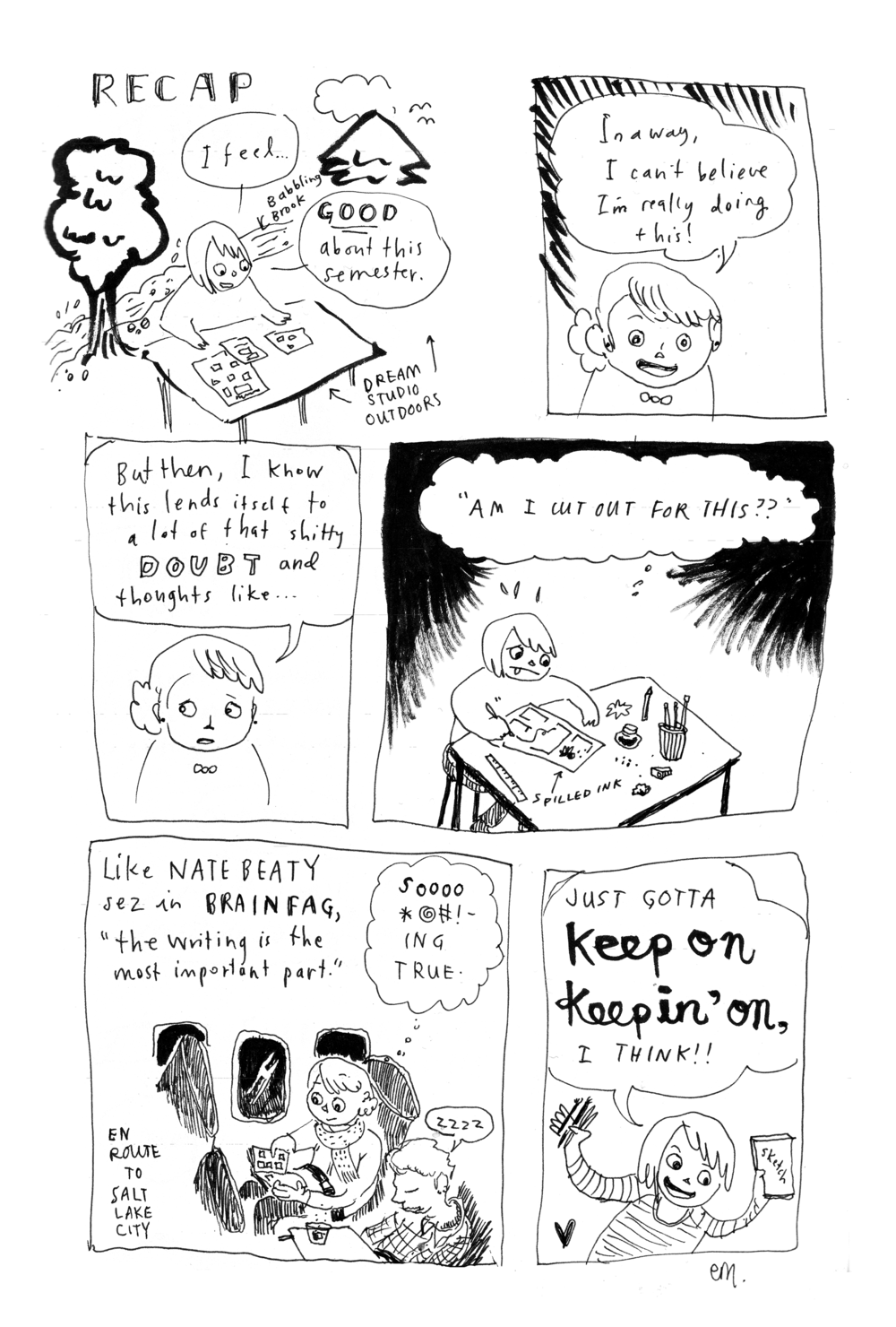Recap  comic sketch, 2014