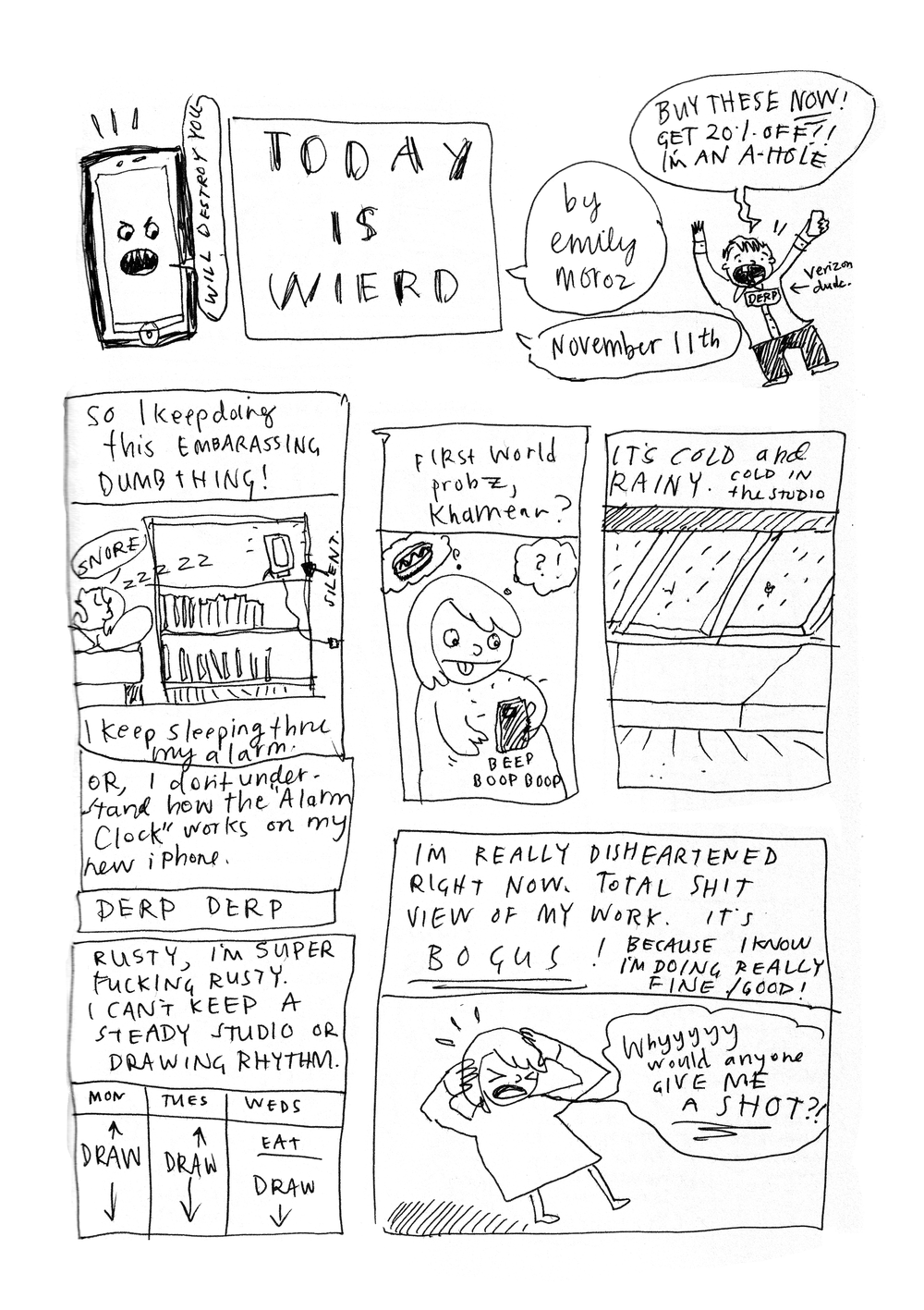 Today Is Wierd  (sic), page 1 of 2, 2014