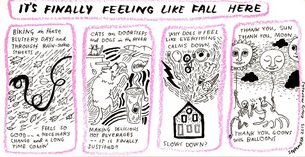 Finally Fall , ink and crayon, 2015