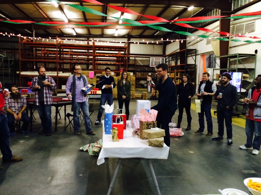 Warehouse Space as InnoLabs community celebrates the holidays, December 2014