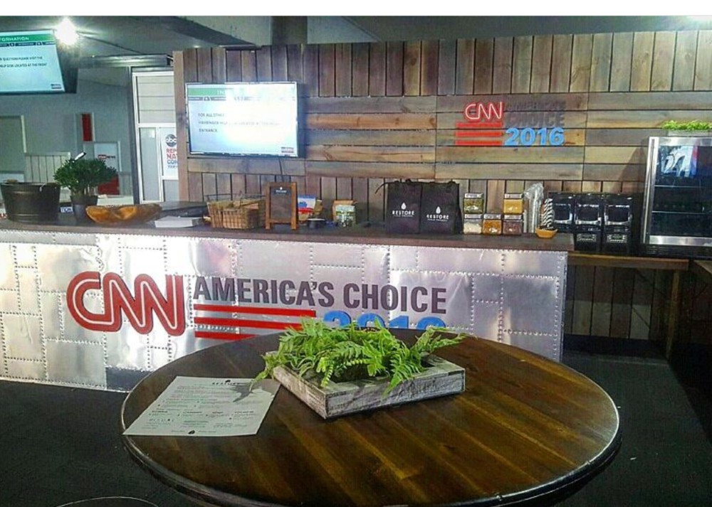 CNN x RNC full service catering.