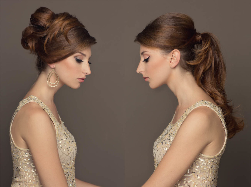 long glamorous ponytail and 60's hair