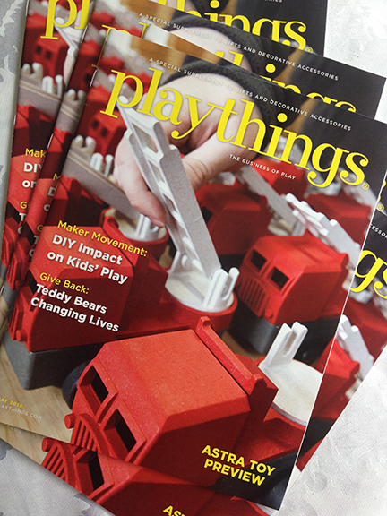 May 2016 Cover of Playthings Magazine