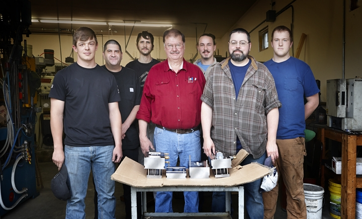 The crew at G&W Precision who make our molds. It's these guys and many others that bring our toys to life!