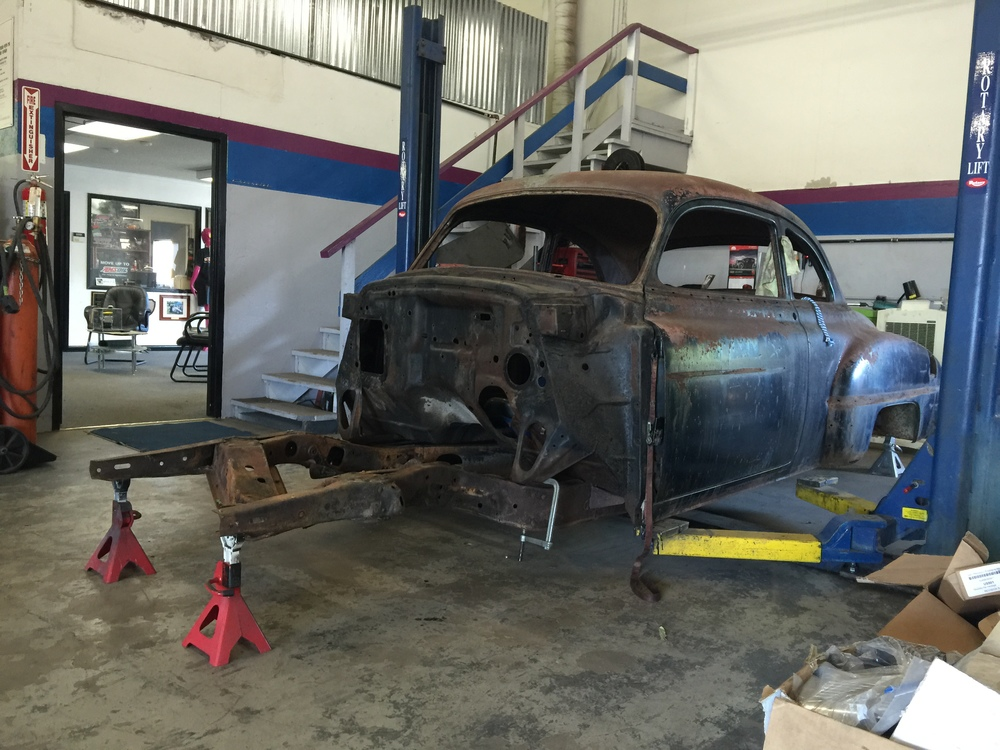 And a Donor frame from a 1949 is test fit to verify everything will work... looks good!