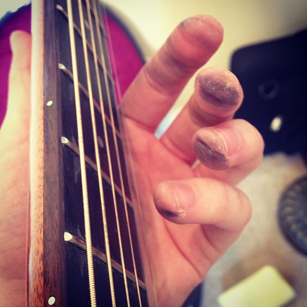 You know you've been playing a lot of guitar when…