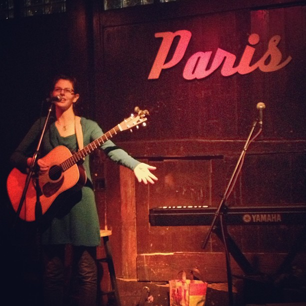 """No cover, just the hat"" Lara Ruggles at Paris on the Platte #denver #goodmusic #parisontheplatte #lararuggles"