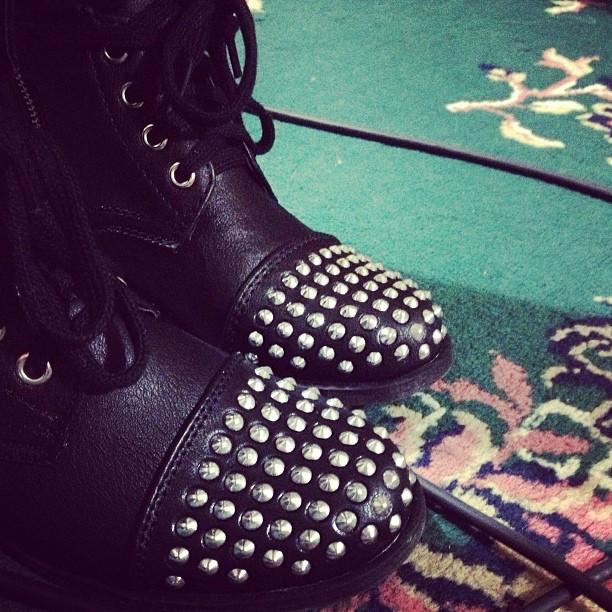 Studded boots - total rockstar status.