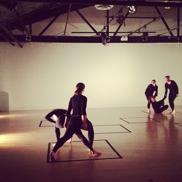 "Watching the rehearsal for one of Catherine's pieces, ""Perimeter"". #moderndance #perimeter"