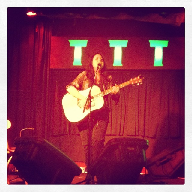 Thank god for fellow songwriters like #laurenbrombert who are willing to go out in -4 degrees to play a show! #toadtavern