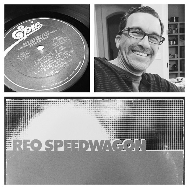 Christmas came early this year thanks to #DeanTMaltese !! Thanks for the #REOspeedwagon #vinyl !! #bestdrummerever