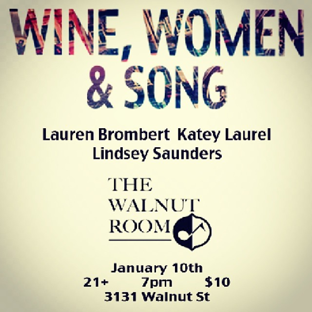 Show on Friday :) #walnutroom #winewomenandsong