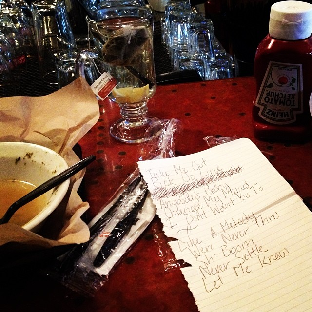 Lunch and today's set list for #accessfilms at #sundancefilmfestival :)