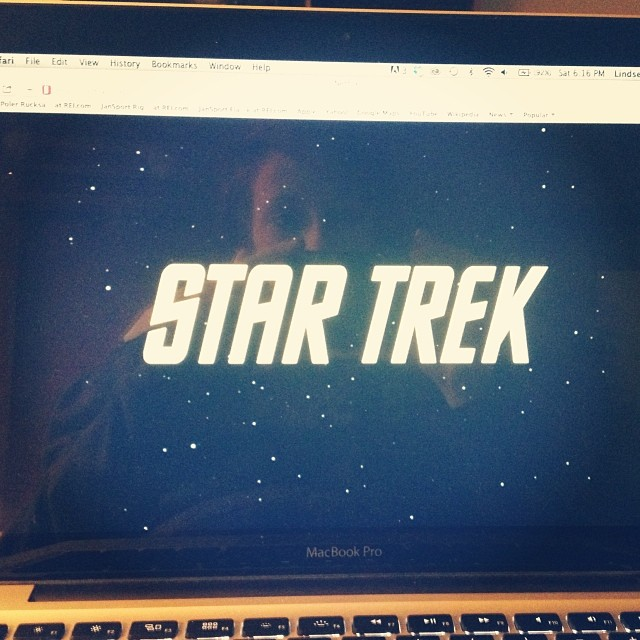 My not-so-guilty-pleasure during my free time on this trip: #startrek