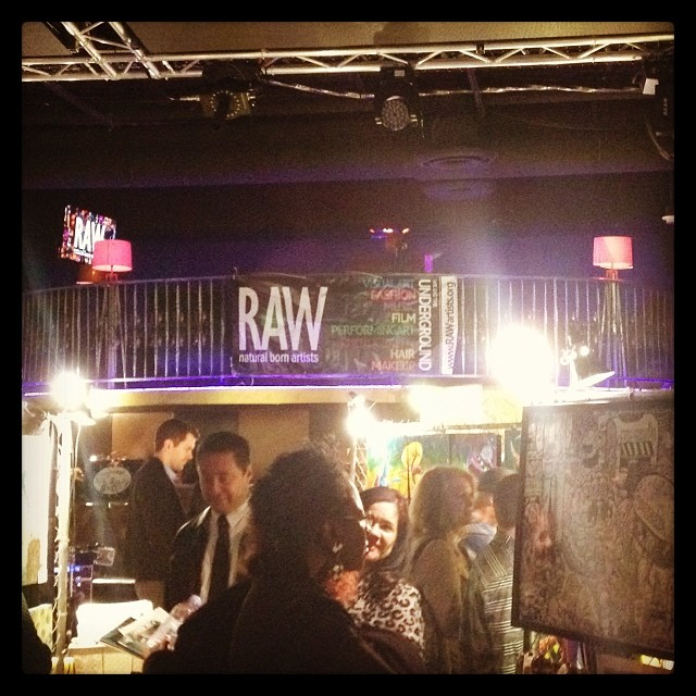 Great to be back at #RAWnaturalbornartists in #Hollywood - so much creative energy tonight.