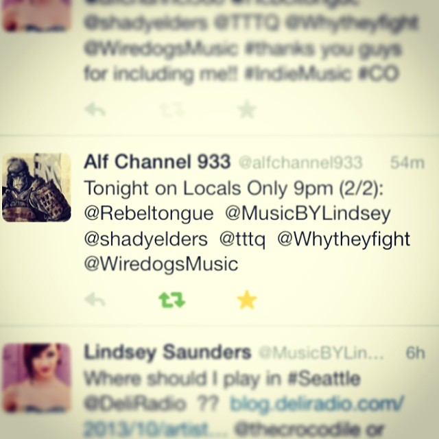 My song on #channel933 tonight for #localsonly !!!! Also on #iheartradio ! YAY :D