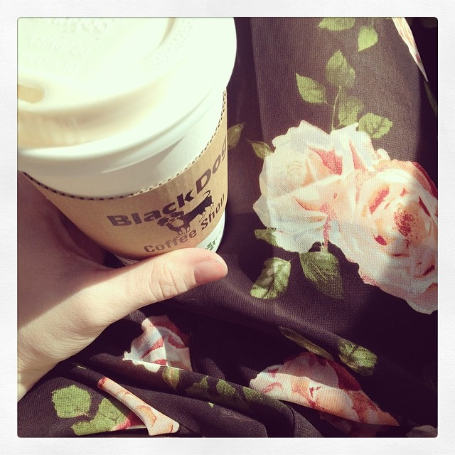 I have my chai tea and my floral kimono. Ready for a great #Sunday :)
