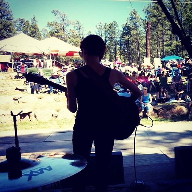 Good times in #pinetop #arizona yesterday at #highmountainmusicfest !  Tonight we play at the Rogue Bar in #scottsdale just outside of #phoenix !