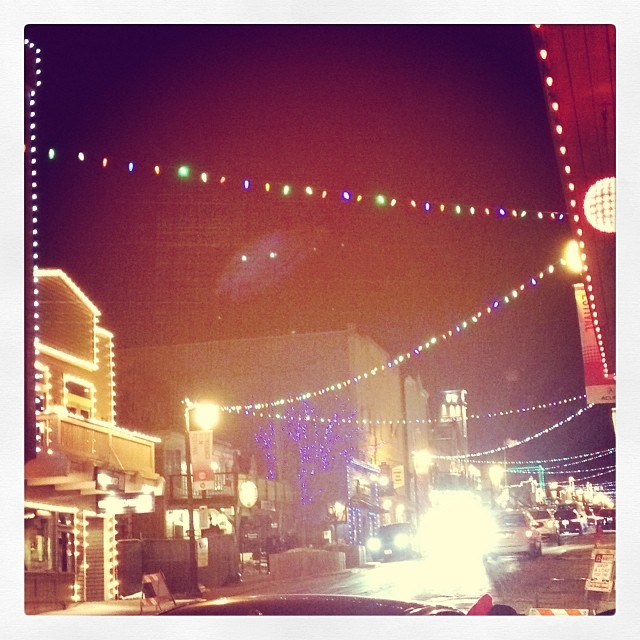 Got rejected at the door of the #FALL fashion party for being underaged! :( Oh well, at least I can enjoy beautiful main street during #sundancefilmfestival <3