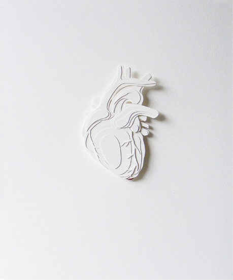 "Heart | 2010 | Cut paper | 8""x 10"""