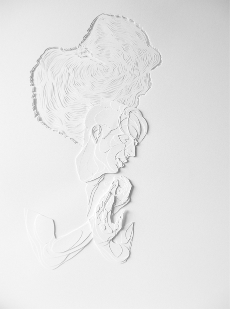 "Hemlock | 2010 | Cut paper | 16"" x 22"""