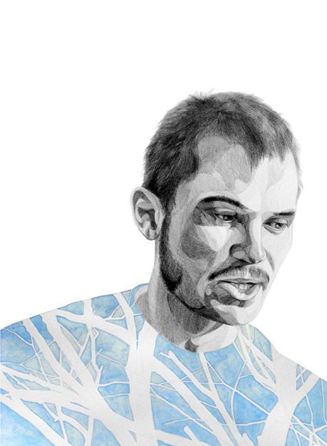 "alex | 2010 | graphite and gouache on paper | 22"" x 30"""
