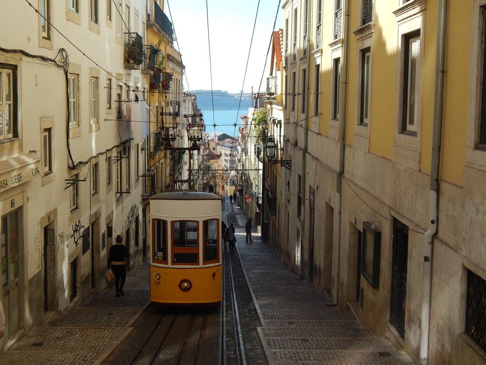 Tram 28 in Lisbon.