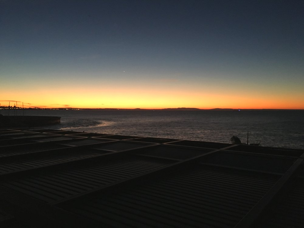 Sunrise at Hotel Farol in Cascais.