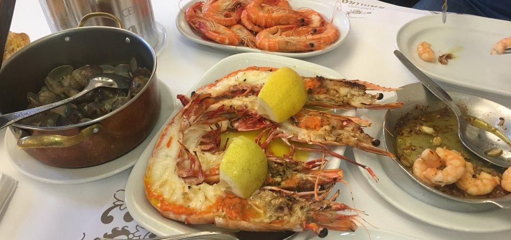 Seafood at Cervejaria Ramiro.