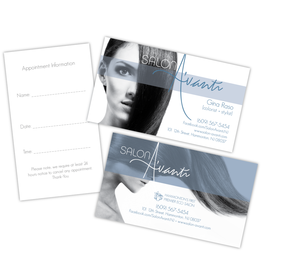 Salon A'vanti Business Cards 2012