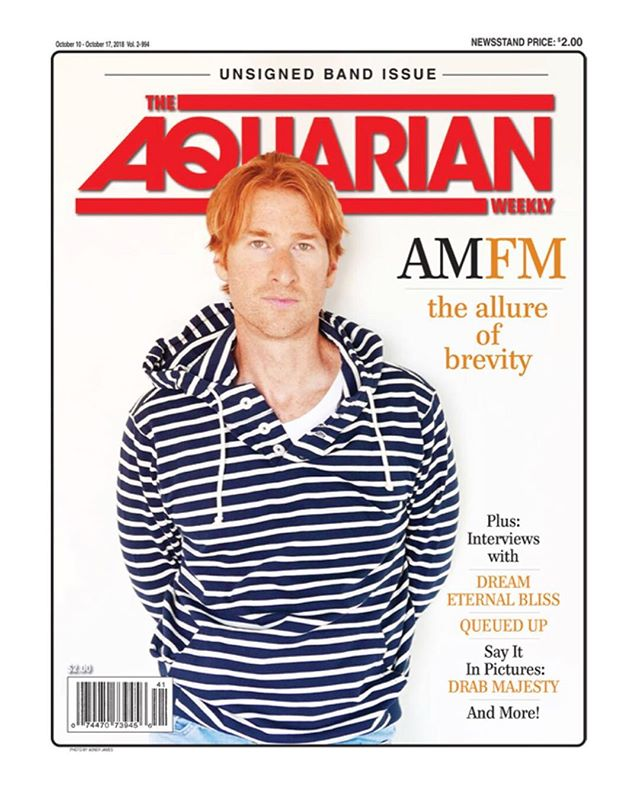 I❤️NJ! Thrilled to be on the cover of @theaquarianweekly for our new EP 'Brevity' coming 10-19. I read The Aquarian religiously growing up so this one feels really good! #oldschool 📸 : by @abnerqjames